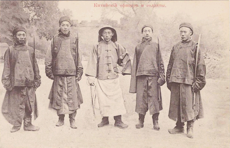 1920s China Postcard.Officers and Soldiers.Kitayshiy