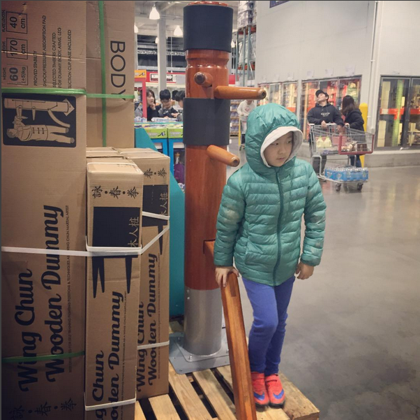 Wooden Dummies for sale at a Costco store in Japan. Source: