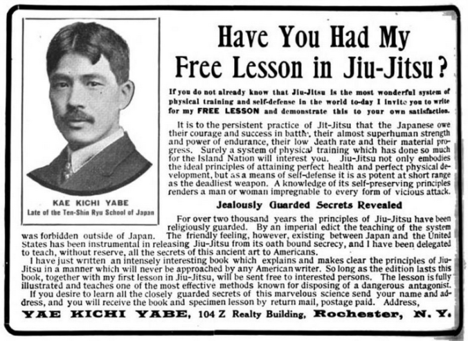 Another classic Yabe School add. This one was seen in number of publications and it gave a clear overview of the schools aims and pitch. Source: Recreation, July 1905.