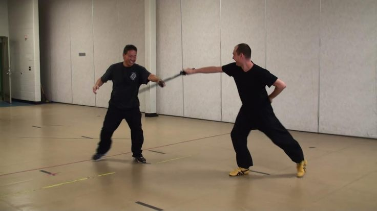 Master Jason Tsou and Daniel Mroz playing Jianshu after Master Tsou's 2013 workshop in Ottawa, Canada. Photo by Rob Dominique.