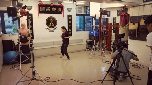A Wing Chun school shooting a video for the relatively new Martial Tribes social media platform. Source: South China Morning Post.