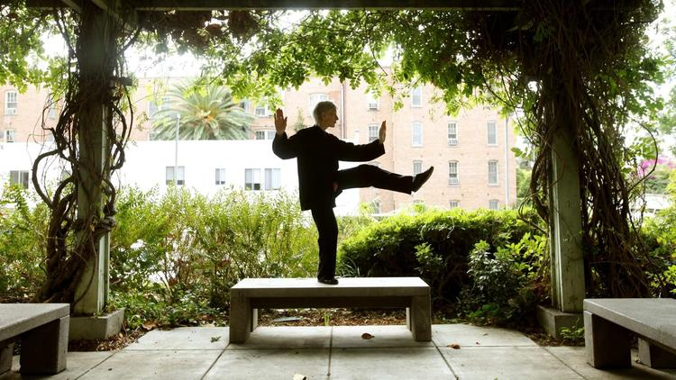 Taijiquan may be part of a balanced workout routine. Source: LA Times.