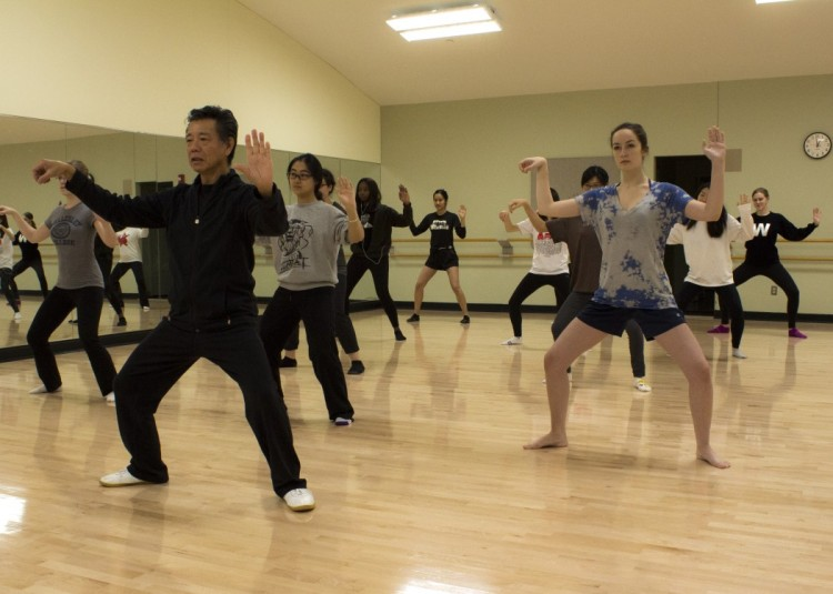 A Taijiquan class at Wellesley College.
