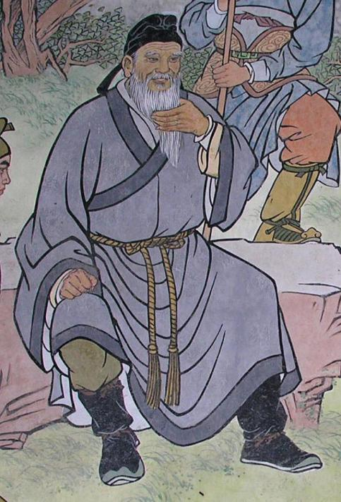 A mural showing Zhou Tong in the Yue Fei temple in Hangzhou.  Source: Wikimedia.