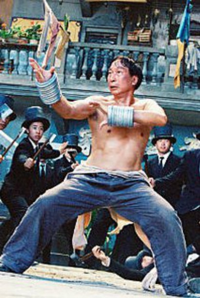 A still showing FM Chiu Chi Ling from Kung Fu Hustle.