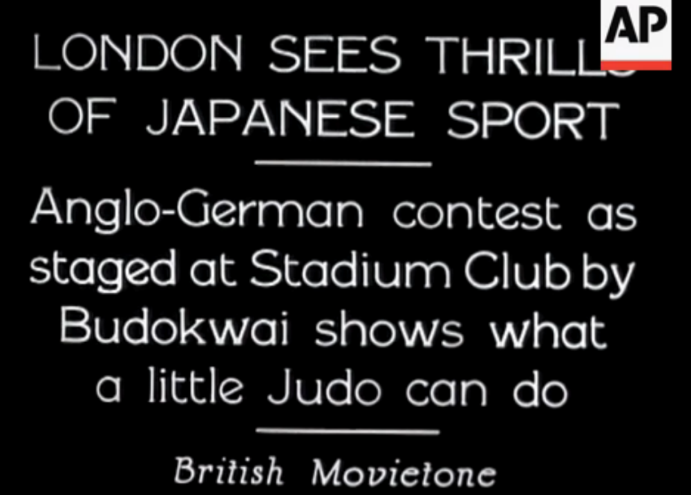 Judo.information screen.1932