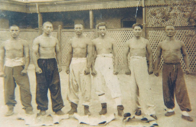 Shuaijial Masters in Tainjin, 1930.  Source: http://fightland.vice.com/blog/shuai-jiao-chinas-indigenous-wrestling-style