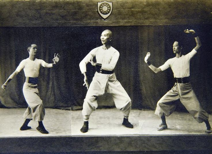 A young TY Wong, right, at the 1928 Central Goushu Institute's national martial arts demonstration in Nanjing, China. Source: From the Collection of Charles Russo.