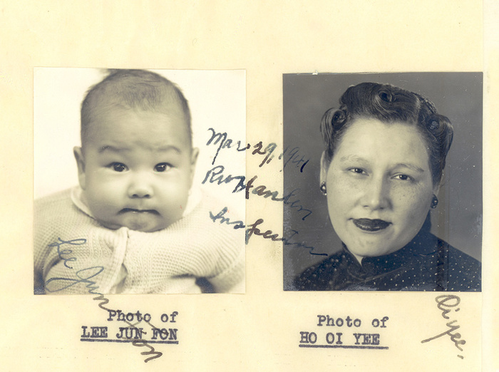 Images of Bruce Lee and his mother. Source: Charles Russo/Fightland.