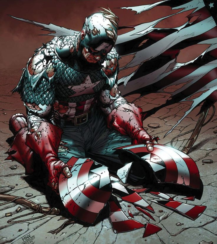 Captain America.broken shield