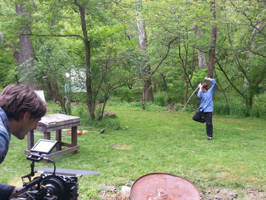 Scott Rodell whilen filming the recent Dandao special with Balitmore Knife and Sword. Source: