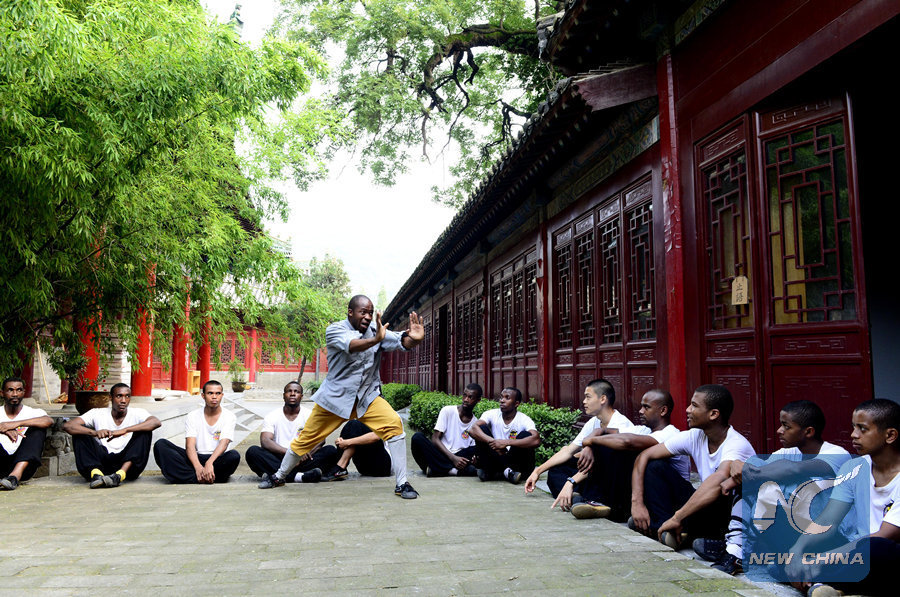 African students studying at the Shaolin Temple.