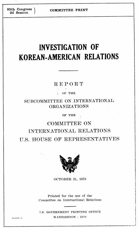 "In 1975, the U.S. government began hearings about the Plan (or ""Koreagate""), a South Korean mission to seduce and influence more than a hundred U.S. Congress members and to bribe, threaten, and kill Koreans who criticized the South Korean dictatorship. Martial artists were involved in the mission from top to bottom."