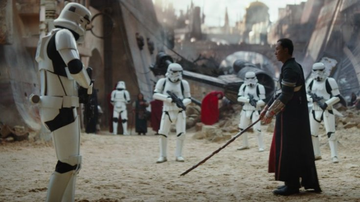 Donnie Yen takes the stage as a blind, Force sensitive, warrior (though probably not a Jedi) in Rogue One.