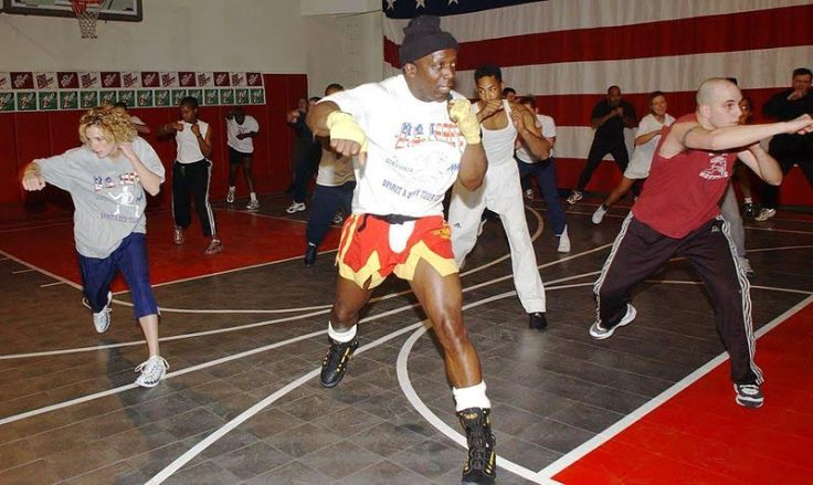 Fitness classes using fighting techniques may not be very 'martial', but can still be worth considering as part of the wider field of interest for martial arts studies scholars. Source: Wikimedia.