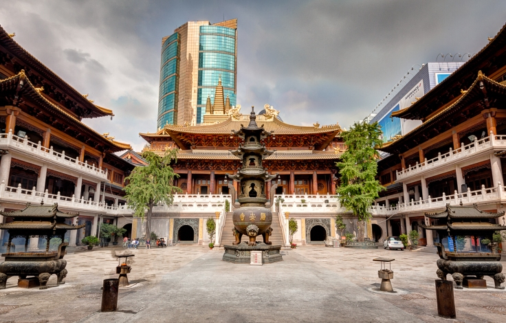 The temple courtyard today.