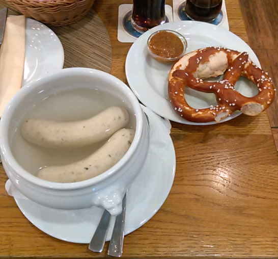 "A helpful waiter at a small restaurant in the Munich airport suggested that this was a ""real"" German breakfast."