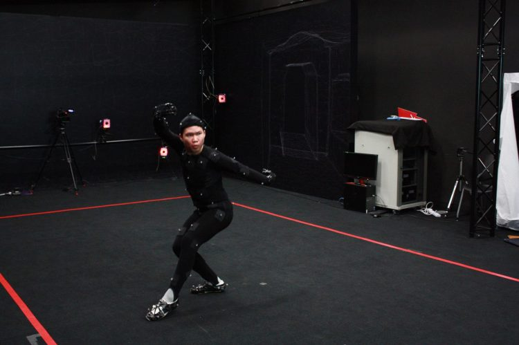 Motion capture technology being used to document the traditional Chinese Martial Arts.  Source: The Facebook group of the International Guoshu Association.