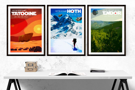 Star Wars Themed Travel Posters.