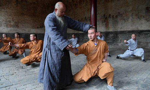 Kung Fu training at the Shaolin Temple. Source: Global Times.