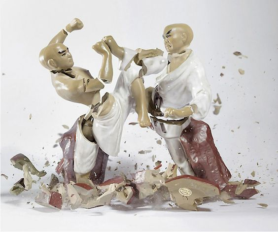 Breaking Ceramic Figurines by Martin Klimas.